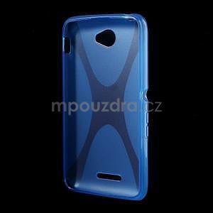 Gélový x-line obal pre Sony Xperia E4 - modrý - 4
