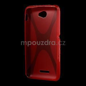 Gelový x-line obal na Sony Xperia E4 - červený - 4