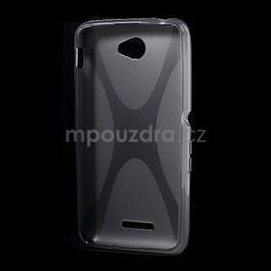 Gelový x-line obal na Sony Xperia E4 - šedý - 4