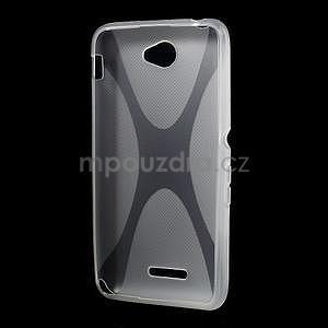 Gelový x-line obal na Sony Xperia E4 - transparentní - 4