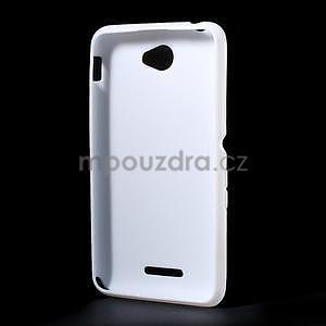 Gélový x-line obal pre Sony Xperia E4 - biely - 4
