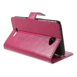 PU kožené peňaženkové puzdro pre mobil Sony Xperia E4 - rose - 4