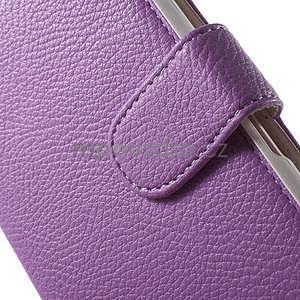 Koženkové puzdro pre Sony Xperia E4 - fialové - 4