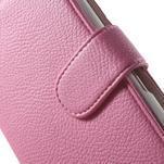 Koženkové pouzdro pro Sony Xperia E4 - růžové - 4/7