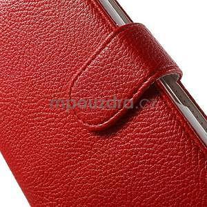 Koženkové pouzdro pro Sony Xperia E4 - červené - 4