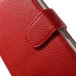 Koženkové puzdro pre Sony Xperia E4 - červené - 4/7