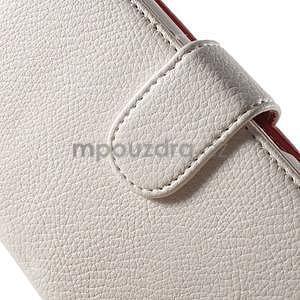 Koženkové pouzdro pro Sony Xperia E4 - bílé - 4
