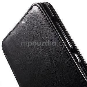 Flipové pouzdro na mobil Sony Xperia E4 - černé - 4