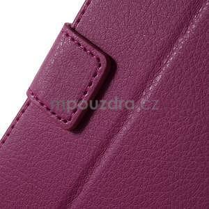 PU kožené peněženkové pouzdro na Sony Xperia E4 - rose - 4