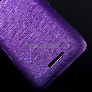 Brúsený gélový obal pre Sony Xperia E4 - fialový - 4