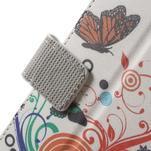 Peněženkové pouzdro na Sony Xperia E4 - barevní motýlci - 4/7