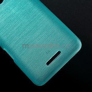Brúsený gélový obal pre Sony Xperia E4 - tyrkysový - 4