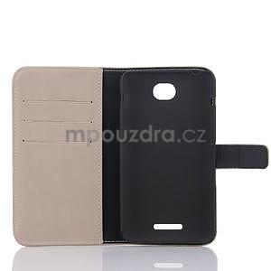 PU kožené PU peněženkové pouzdro na Sony Xperia E4 - béžové - 4