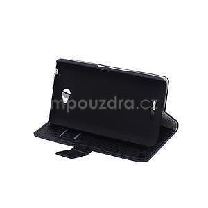 Puzdro s krokodílím vzoromna Sony Xperia E4 - čierne - 4