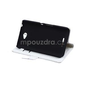 Puzdro s krokodýlím vzorem na Sony Xperia E4 - bílé - 4