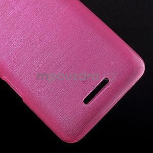 Brúsený gélový obal pre Sony Xperia E4 - rose - 4