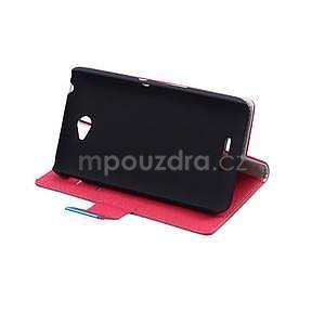 Vzorované peňaženkové puzdro pre Sony Xperia E4 - červené - 4