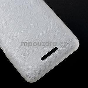 Brúsený gélový obal pre Sony Xperia E4 - biely - 4