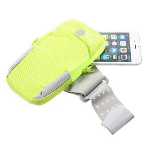 Zippy univerzálna športová taštička na ruku pre telefóny do rozmeru 157 x 77 mm - zelená - 4