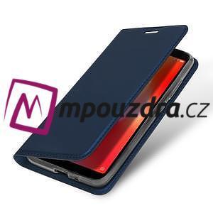 DUX PU kožené flipové puzdro na mobil Xiaomi Redmi 6A - modré - 4