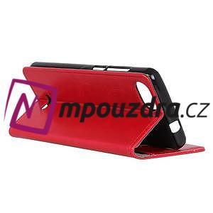 Horse PU kožené peňaženkové puzdro na mobil Xiaomi Redmi 6A - červené - 4