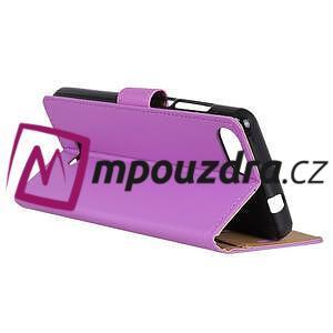 Wall PU kožené peňaženkové puzdro na Xiaomi Redmi 6A - fialové - 4