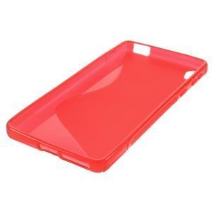 S-line gélový obal pre mobil Sony Xperia E5 - červený - 4