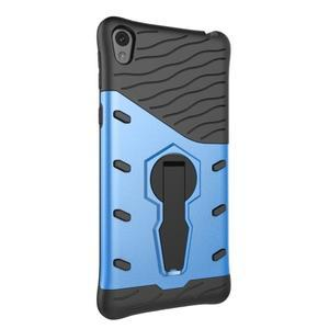 Armory odolný obal so stojanom na Sony Xperia E5 - modrý - 4