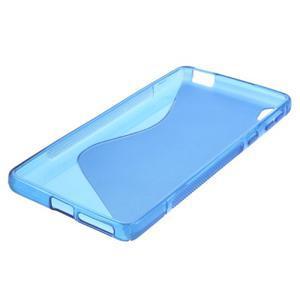 S-line gélový obal pre mobil Sony Xperia E5 - modrý - 4