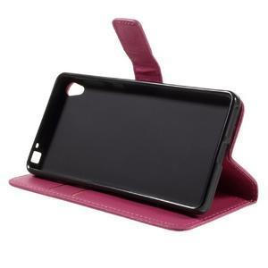 Leathy PU kožené puzdro na Sony Xperia E5 - rose - 4