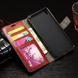 Horss PU kožené puzdro na Sony Xperia E5 - červené - 4