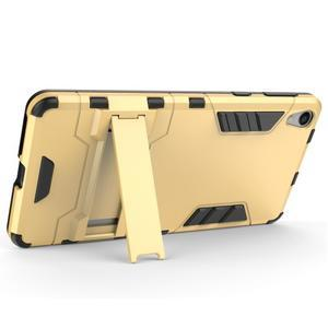 Outdoor odolný obal pre mobil Sony Xperia E5 - zlatý - 4