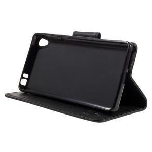 Butterfly PU kožené puzdro na Sony Xperia E5 - čierne - 4