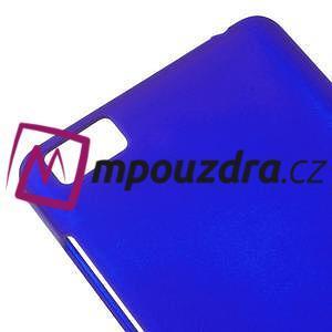 Pogumovaný plastový obal na Xiaomi Mi4c/Mi4i - modrý - 4