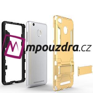Outdoor odolný obal pre Xiaomi Redmi 3 Pro - zlatý - 4