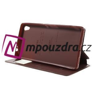 Richi PU kožené puzdro s okienkom na Sony Xperia XA Ultra - hnedé - 4