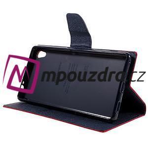 Diary PU kožené puzdro pre mobil Sony Xperia XA Ultra - červené - 4