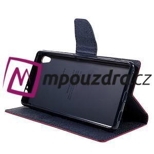 Diary PU kožené puzdro pre mobil Sony Xperia XA Ultra - rose - 4