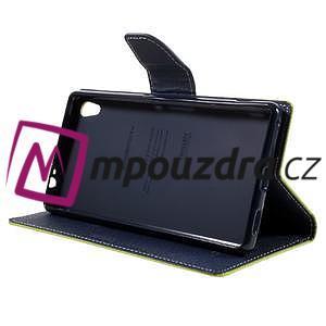 Diary PU kožené puzdro pre mobil Sony Xperia XA Ultra - zelené - 4