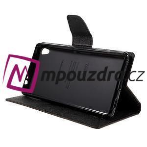 Diary PU kožené puzdro pre mobil Sony Xperia XA Ultra - hnedé - 4