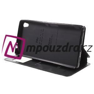 Richi PU kožené puzdro s okienkom na Sony Xperia XA Ultra - čierne - 4