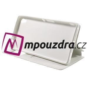 Richi PU kožené puzdro s okienkom na Sony Xperia XA Ultra - biele - 4