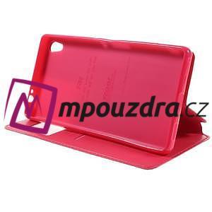 Richi PU kožené pouzdro s okýnkem na Sony Xperia XA Ultra - rose - 4