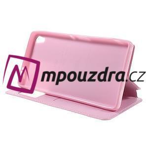 Richi PU kožené puzdro s okienkom na Sony Xperia XA Ultra - ružové - 4
