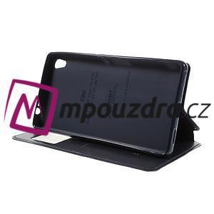 Richi PU kožené puzdro s okienkom na Sony Xperia XA Ultra - tmavomodré - 4