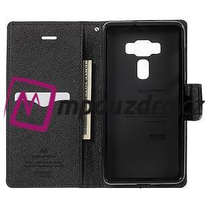 Diary PU kožené puzdro pre mobil Asus Zenfone 3 Deluxe - čierné - 4