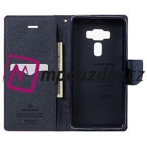 Diary PU kožené puzdro pre mobil Asus Zenfone 3 Deluxe - rose - 4