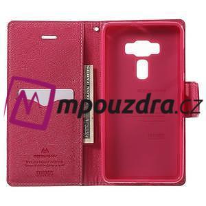 Diary PU kožené pouzdro na mobil Asus Zenfone 3 Deluxe - růžové - 4