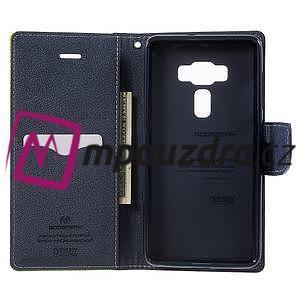 Diary PU kožené puzdro pre mobil Asus Zenfone 3 Deluxe - zelené - 4