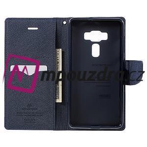Diary PU kožené puzdro pre mobil Asus Zenfone 3 Deluxe - fialové - 4